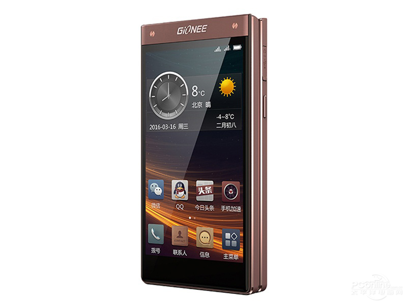 Gionee W909 45 degree